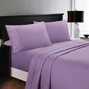 ⭐️SALE⭐️King 6pc Lavender Bedsheets